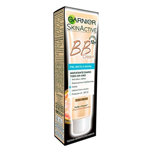 Garnier Skin Active BB Cream Matificante Crema Correctora y Anti Imperfecciones para...