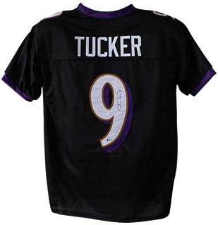 Justin Tucker Autographed Signed Baltimore Ravens Black XL Jersey BAS