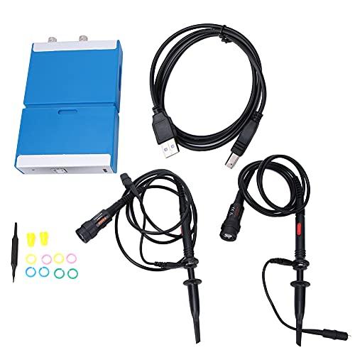 Oscilloscopio a memoria digitale, C520 PC portatile palmare oscilloscopio virtuale a doppio canale virtuale larghezza di banda 20MHz 50M