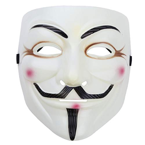iEFiEL V Maske Halloween Gesichtsmaske Halloween Horror Kostüm Horror Maske für Halloween Cosplay Partei Fest Karneval Faschingskostüme Gelb One Size