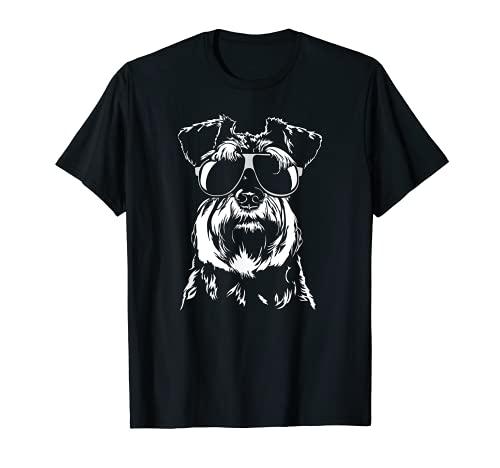 Zwergschnauzer cool Hund Hunde Geschenk Hunde T-Shirt