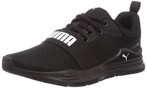 Puma Wired Run, Zapatillas de Running Unisex Adulto, Black Whi, 36 EU
