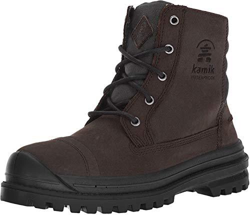 Kamik Men's Griffon Lace Up Waterproof Winter Boot Chocolate 9 Medium US