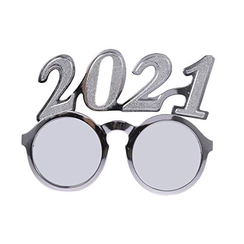 Goodtimera Gafas para el año 2021 con degradado de color para fiestas o disfraces