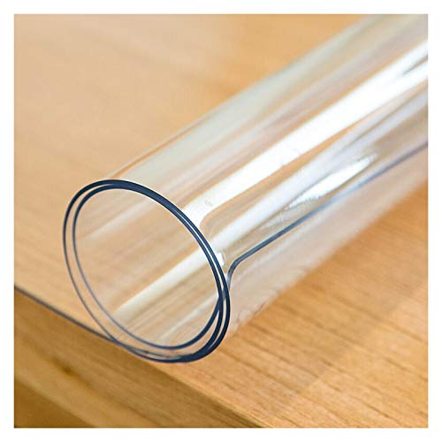 LSSB PVC Plastico Manteles Protector de Mesa Transparente a Prueba de Agua Plástico Mesa Paño Cubierta Absorbente de Sonido Resistente a Los Arañazos para Mueble de TV Oficina Hogar