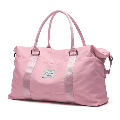 Gym Bag for Women Travel Duffel Bag Sports Tote Shoulder Crossbody Weekender Overnight Bag Pink