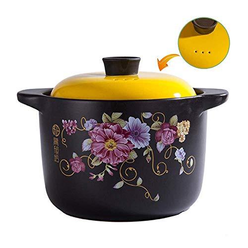Beau et Pratique XLTCG 6.8L Casserole Ronde □ Plat 25 cm Grand Céramique Ragoût antiadhésifs Pot Marmites □ Convient for la Plupart des Plaques de Cuisson, Jaune 6.8L (Color : Yellow, Size : 6.8L)
