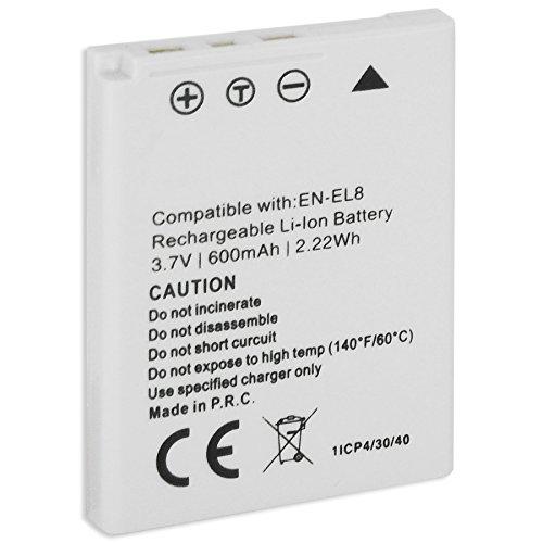 Batteria EN-EL8 per Nikon Coolpix S1, S2, S3, S5, S6, S7, S7C, S8, S9