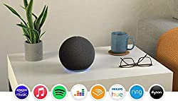 New look, new sound—Echo delivers clear highs, dynamic mids and deep bass for rich, detailed sound that automatically adapts to any room. Voice control your entertainment—stream songs from Amazon Music, Apple Music, Spotify, Deezer and more. Plus lis...