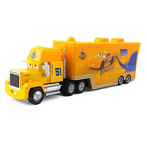 Disney Disney Pixar Cars 3 Dinoco Cruz Ramirez's Hauler Truck 1:55 Diecast Alloy Toy Car Model Loose Kids Gift