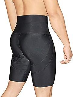 Butt Lifter Boxers Briefs para Hombre Cintura Alta Pantalones Pitillo de ángulo Plano Control elástico de Abdomen Alto Piernas Flacas Calzoncillos Largos