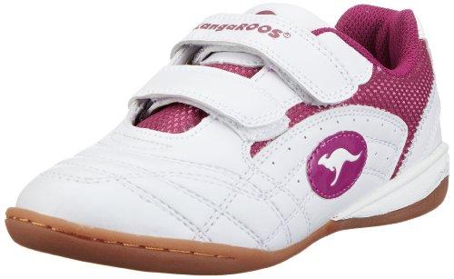 KangaROOS Backyard Unisex-Kinder Sneaker, Weiß (White/Fuchsia 063), 36 EU