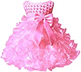 Baby Girl Party Dresses Ruffle Lace Pageant Wedding Flower Little Girl Dress Pink 12 Months
