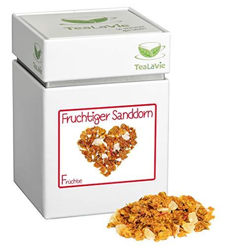 TEALAVIE - Früchtetee lose | Fruchtiger Sanddorn (>60%) - fruchtig milder Sanddorn | 70g Dose loser Früchte Tee