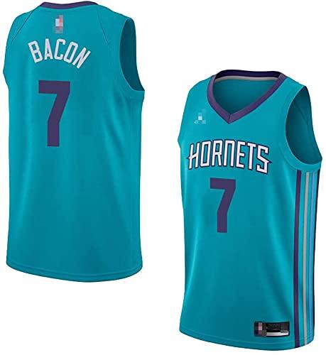 jiaju Ropa Uniformes de Baloncesto para Hombres, Charlotte Hornets # 7 Dwayne Bacon NBA Basketball Jerseys Chalecos Casuales Camiseta sin Mangas Tops, Azul, M (170~175cm)