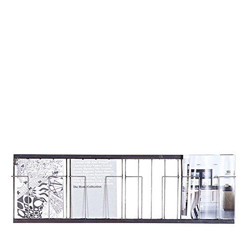 Maison ESTO Postkartenhalter 103 x 32 cm Flyerhalter Display Wanddisplay Wandhalter Metall