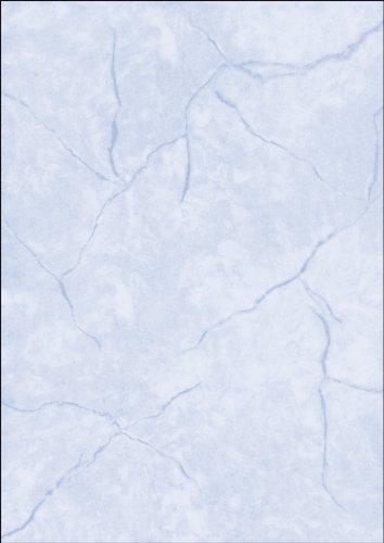 SIGEL DP639 Struktur-Papier Briefpapier Granit blau, A4, 100 Blatt, Motiv beidseitig, 90 g - weitere Farben