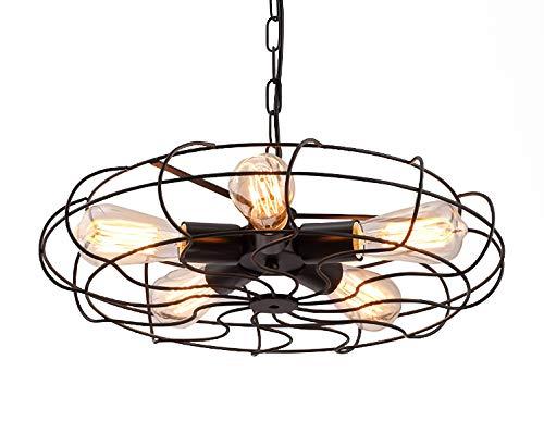 Style home Retro Deckenlampe Hängelampe 5X40W Edison Metall Vintage Industrie Stil RL-C203 inkl. Leuchtmittel