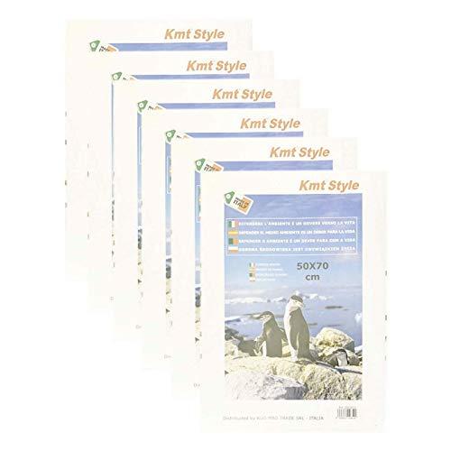 Acan - Pack de 6 Marcos de Fotos con Cierre de Clip 50 x 70 cm. Soporte sin Marco para fotografías, láminas, Posters, títulos y Recuerdos. Ideal para Colgar en la Pared