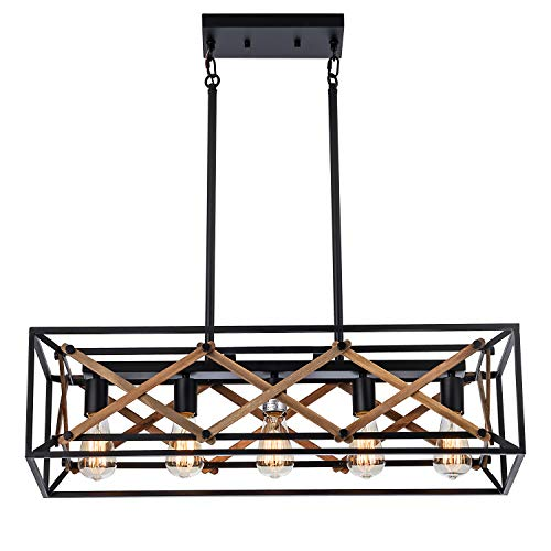XIPUDA Kitchen Island Pendant Light Fixture Farmhouse Chandeliers Lighting, Pool Table Linear...