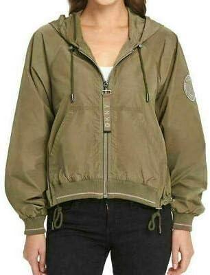DKNY | Zipper Closure Windbreaker Jacket for Women, SNO Juniper, Large