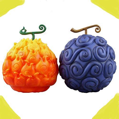 Mesky EU Devil Fruit Déguisement Accessoire Fruits du Démon Flame-Flame Fruit + Gum-Gum Fruit