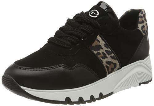 Tamaris Damen 1-1-23704-34 Sneaker, Schwarz (Black Leo Comb 78), 42 EU
