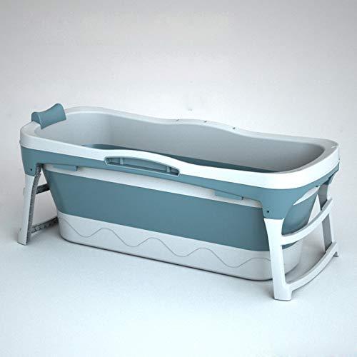 Bewegliche faltbare erwachsene Badewanne für Erwachsene Badewanne, faltbare Badewanne für Erwachsene Kunststoff heiße Dusche Whirlpool-Badewanne, PP und TPE-Material, 138x60x58cm,Blau