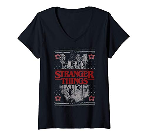 Mujer Netflix Stranger Things Ugly Christmas Sweater Style C