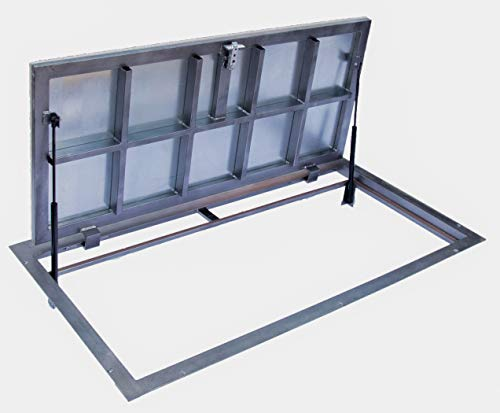 Trampilla de suelo 700 mm x 1200 mm(P) – Bisagras laterales, Tapa...