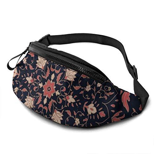 AOOEDM Retro Pattern Running Belt Belt bagsche Fashion Waist Pouch Bag for Men Women Sports Hiking
