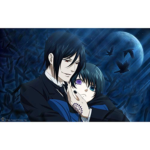 Jigsaw Puzzles Black Butler Toy Puzzle for Adults 300/500/1000/1500 Pieces (Size : 500Pieces)