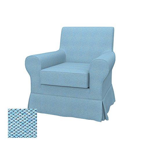 Soferia - IKEA EKTORP JENNYLUND Funda para sillón, Nordic Blue