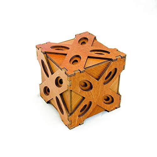 Yobbiks. Answer Box (ZY4120) Rompecabezas de Madera. Caja de Seguridad de Apertura Secreta.