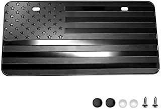 LFPartS USA American Flag Metal Embossed License Plate (12