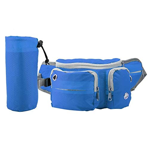 EVTSCAN Bolsa de Regalo para Perros para Entrenamiento, Bolsa de Almacenamiento en la Cintura, Bolsas de Entrenamiento para Accesorios de Viaje, riñonera con cinturón de Manos Libres(Azul)