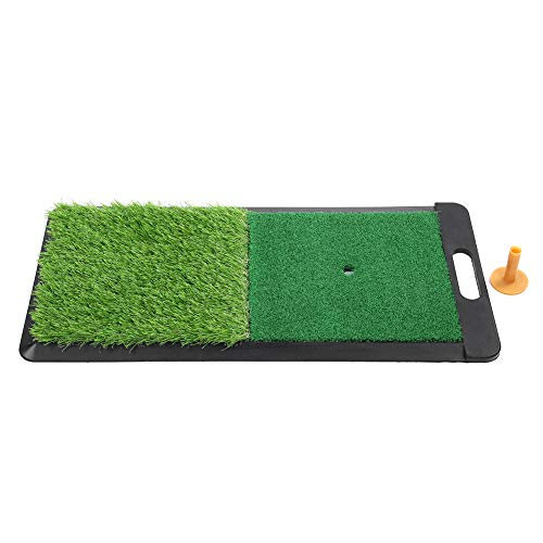 Buy Cheap Qiilu Golf Mat, Golf Hitting Mat Indoor Outdoor Golf Swing Practice Grass Mats with Rubber...