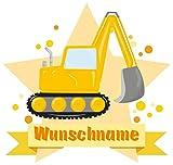 Samunshi® Cooler Bagger Wandtattoo Türschild mit Name personalisierbar Kinderzimmer Türaufkleber Baby Wandaufkleber in 9 Größen (25x22cm Mehrfarbig)