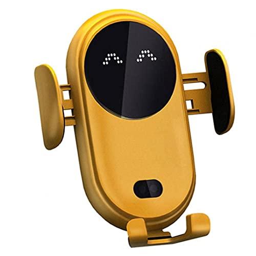 YepYes Diseño Personalizado de Cargador inalámbrico Coche, la Carga rápida, sujeción automática, Carga inalámbrica, Soporte de Escape de Aire del Coche