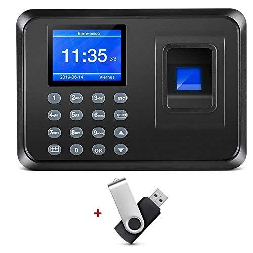 "Thustand 2.4"" TFT USB Máquina de Asistencia Biométrica de Huella Dactilar con 8G Memoria Flash, Registrador de Cheques del Empleado, LCD Pantalla, Sistema Española"