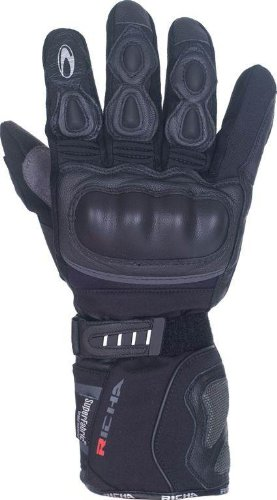 Richa Arctic Waterproof Winter Ride Recommended Motorcycle Gloves Black L