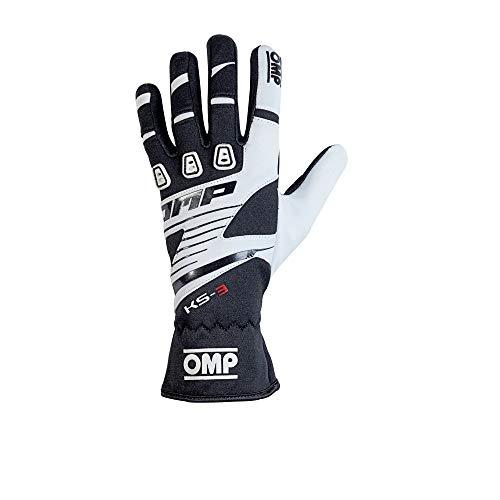 Omp OMPKK02743E076L My2018 Ks-3-Handschuhe, Schwarz/Weiß, Größe L