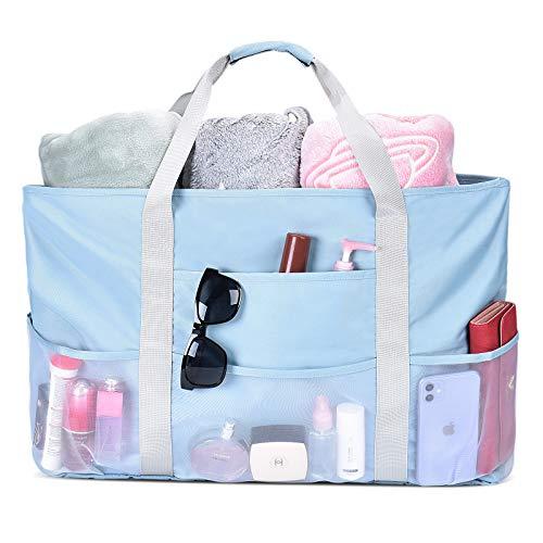 VBIGER Strandtasche Groß XXL Netz Strandtaschen mit Reißverschluss Badetasche Sommer Tasche Shopper Damen für Strand|Picknick|Urlaub|Reise