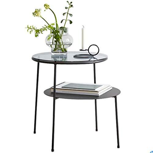 Beistelltisch Couchtisch Sofatisch Wohnzimmertisch Nordic Round Beistelltisch Sofa Beistelltisch, Klein Moderne Klarglas Kaffee Snack Tabelle Narrow Tisch for Wohnzimmer, Wohnhaus, Büro