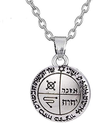 ZPPYMXGZ Co.,ltd Collar de Moda el Segundo Tercer pentáculo de Júpiter Collar de Sello de Salomón joyería de Amuleto Steampunk