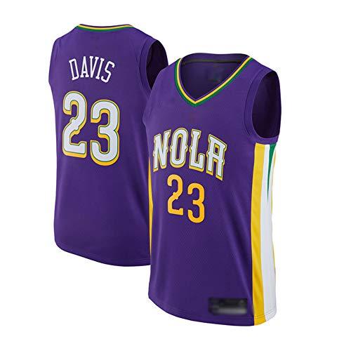 Wo nice Uniformes De Baloncesto para Hombres, New Orleans Pelicans # 23 Anthony Davis NBA Baloncesto Jerseys De Entrenamiento De Secado Rápido Chalecos Deportivos Y Tops De Ocio Camisetas,Púrpura