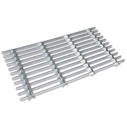 CKB LTD® Felpudo de acero galvanizado, para puertas de entrada de jardín al aire libre, resistente, para puerta delantera, tamaño pequeño