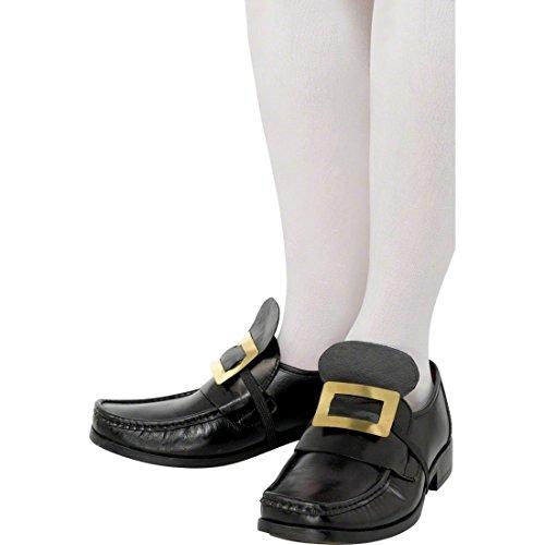 NET TOYS Boucles de Chaussures Baroques Métal Moyen-Âge Boucles pour Chaussures Boucle Chaussure Homme Boucles pour Chaussures Déguisement Accessoire