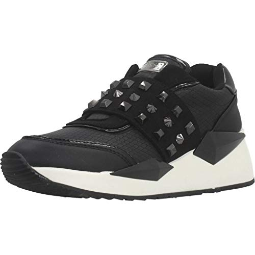 GUESS zapatos de mujer zapatillas cuña FL8TILFAL12 NEGRO talla 35 Negro (Ropa)