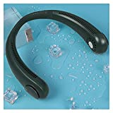 HAIMING Mini Ventilador sin Broca Cuello de Cuello eléctrico USB Carga de Deportes silenciosos de Aire Acondicionado portátil de Aire Acondicionado de la casa (Color : Green Fan)
